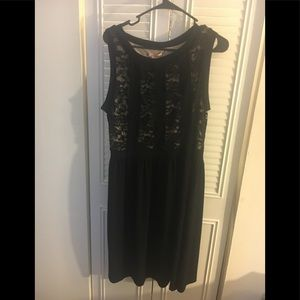 Dresses & Skirts - Black Overlay Fit and Flare